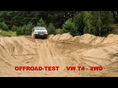 Kleiner Offroad-Test VW T4 - 2WD