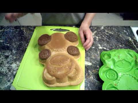 Барни своими руками. Большой медвежонок Барни. Вкусный бисквит и крем с вареной сгущенкой!