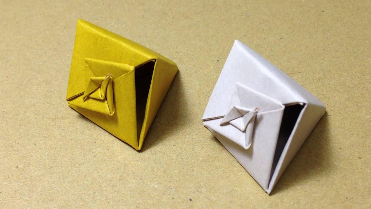 すべての折り紙 かわいい折り紙作り方 : Origami Gift Box Instructions