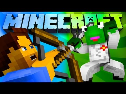 THE BATTLE DUEL OF LOVE! (Minecraft: 1v1 Battle-Arena versus KermitplaysMC)