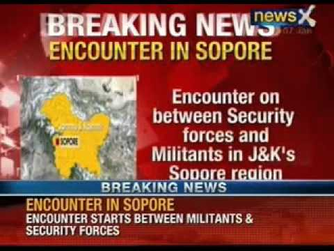Two policemen injured in sopore encounter in North Kashmir -  NewsX