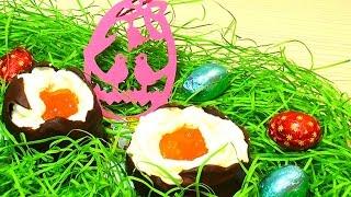 Шоколадные яйца с кремом на Пасху Как приготовить пасхальные шоколадные яйца