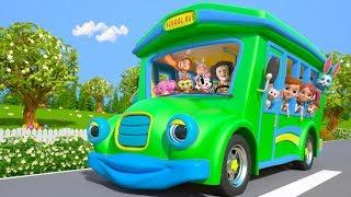 Wheels on the Bus   Kindergarten Nursery Rhymes for Children   Cartoons for Kids   Little Treehouse