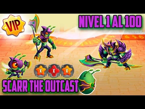Monster Legends - Scarr The Outcast (Nivel 1 al 100) + Combate [VIP]