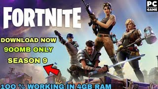 Download Fortnite Battle Royal season 9 highly compressed for pc with setup installation proof😀