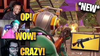 "Streamers First Time Using *NEW* ""AK47"" Heavy Assault Rifle! 