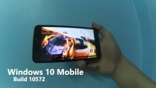 พรีวิว Windows 10 Mobile build 10572