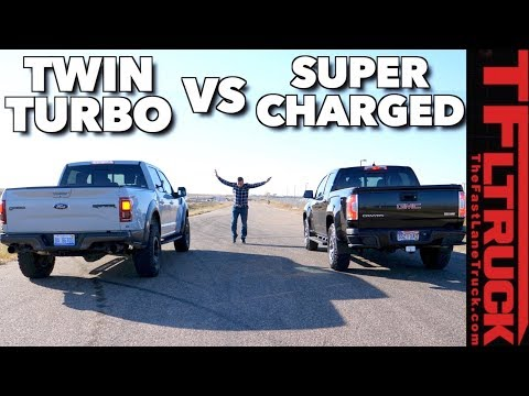 Ford Raptor vs Supercharged GMC Canyon Drag Race: Which V6 is Faster?