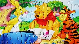 Disney WINNIE THE POOH Puzzle Games Rompecabezas Puzzles kids learning Videos Toys Learn  49 pieces