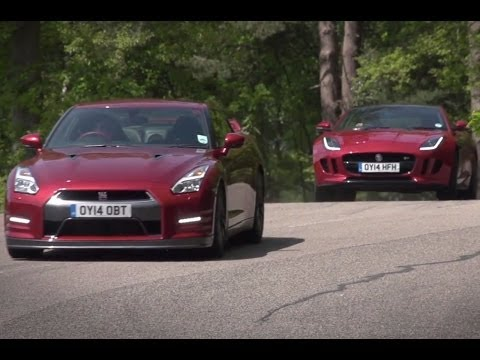 Nissan GT-R vs Jaguar F-type R coupe: time trial contest