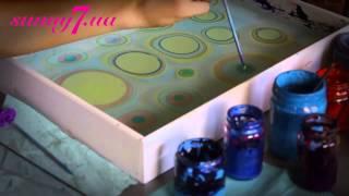 Рисование на воде. Урок эбру EBRU work show Water animatin lessons