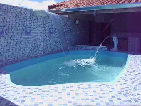 Cascata para piscina de fibra golfinho