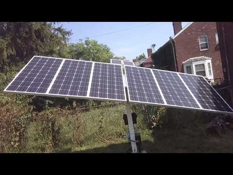 Video on how I power my. EHO-WORTHY solar trackers!