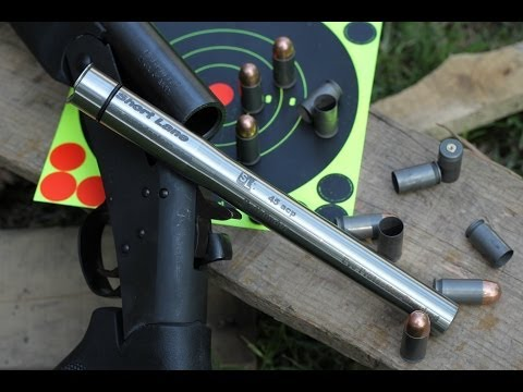 12ga to 45acp shotgun adapter testing part one. short lane gunadapters ZRUS