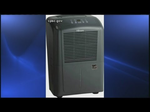Dehumidifiers recalled due to fire risk