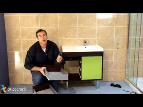 Instalar un mueble de ba o suspendido bricocracktv youtube for Lavamanos suspendido