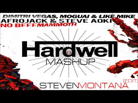 Dimitri Vegas & Like Mike & Moguai X Steve Aoki & Afrojack - No Beef Mammoth (hardwell Mashup) video