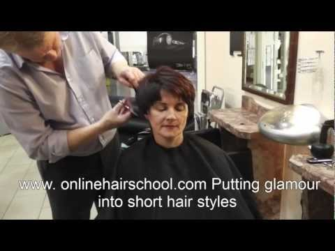 Advanced graduation short hair style,  how to cut hair with scissors