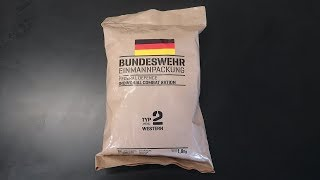 Tasting 2018 German MRE (Meal Ready to Eat)