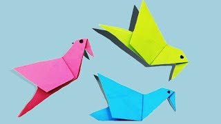 origami bird   How to Make a Simple Paper Bird origami Tutorial-Mr Paper Crafts