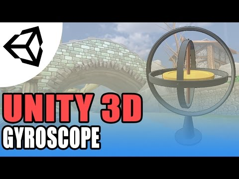 Unity Mobile Gyroscope - Real World Rotation - Unity 3D [Tutorial]