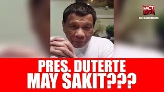 Fact or Fake: Facts on Philippine President Rodrigo Duterte's Health