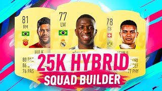 25K STARTER HYBRID SQUAD BUILDER WITH 5 STAR SKILLER!!! FIFA 19 ULTIMATE TEAM