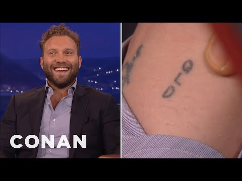 Jai Courtney Lost A Tattoo Bet With Margot Robbie  - CONAN on TBS