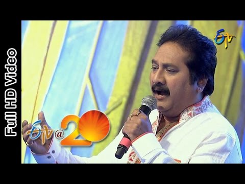 Mano Performance - Janani Janmabhoomischa Song  In Viajaywada ETV @ 20 Celebrations
