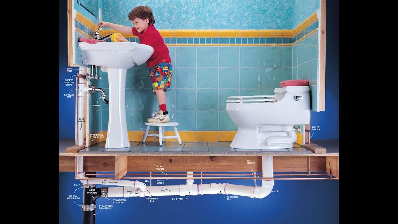Монтаж внутренней канализации в доме 78