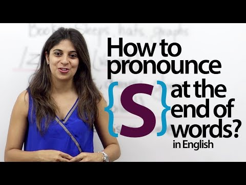 Pronouncing 'S' at the end of words in English? - English pronunciation Lesson