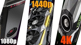 The Best Graphics Card For Each Resolution!! - 1080p, 1440p, AND 4K!