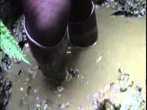 Aigle Jumping Riding Boots in mud