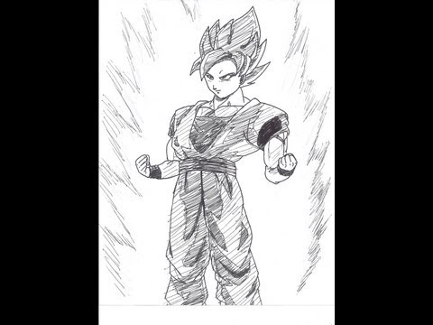 How To Draw Son Goku Ssj (laughforlifeify's Contest)- 孫 悟空- 超サイヤ人- Dbz video