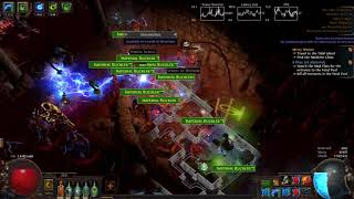 Path Of Exile  - Shimmeron Arc / Ball Lightning trapper Saboteur Atziri Run (3.1/3.2ok)