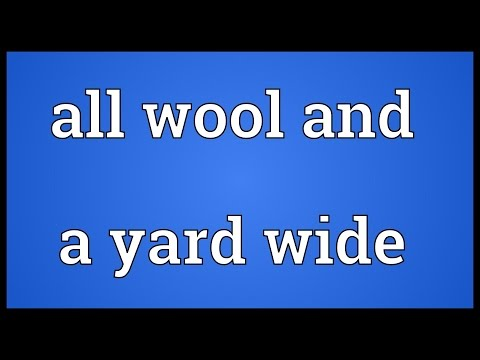 Header of All Wool and a Yard Wide