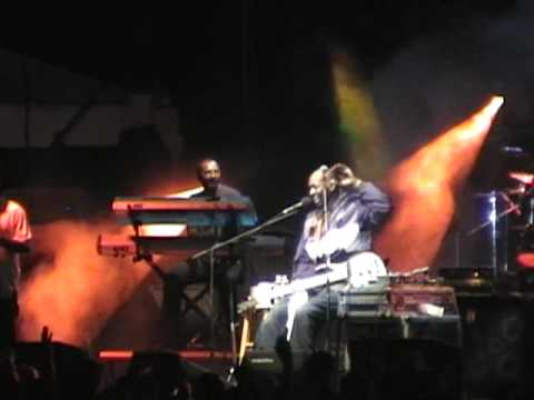 Wayman Tisdale working the crowd in Cape Coral Fl. 2009