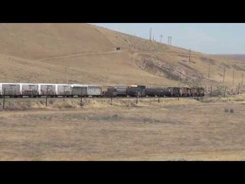 Union Pacific / Canadian Pacific RR WBD mixed freight train .. Umatilla River Valley 7/1/2013