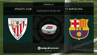 Calentamiento Athletic Club vs FC Barcelona