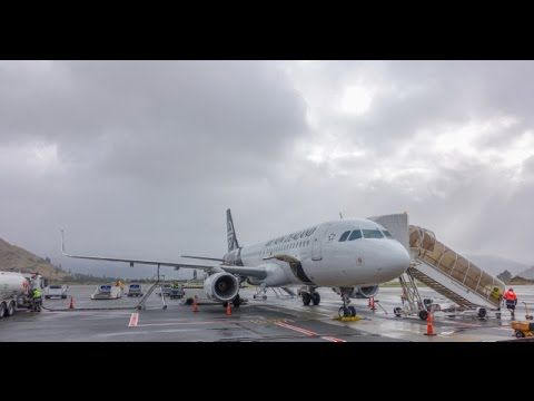 Air New Zealand Airbus A320 / Auckland to Queenstown / CAUTION
