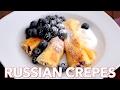 Breakfast: Russian Crepes with Cheese (Nalesniki) - Natasha