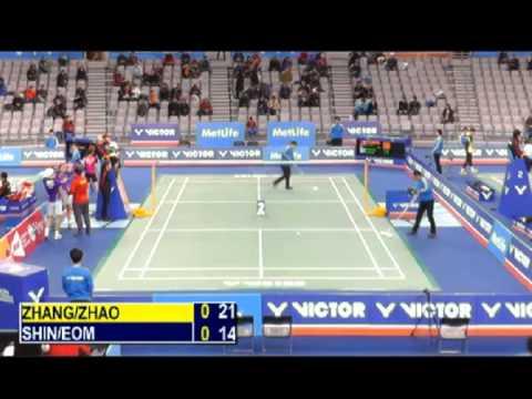 R32 - XD - Zhang N. / Zhao Y.L. vs Shin B.C. / Eom H.W. - 2014 Korea Badminton Open
