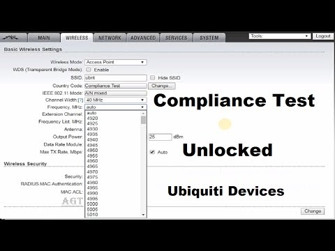 Ubiquiti M5 / M2 devices Enable compliance test option (unlock all frequencies)