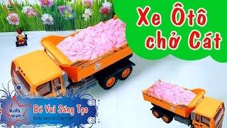 Đồ chơi cho bé - Ôtô chở cát - Khuôn cát nặn tạo hình cực đáng yêu | Kids world channel