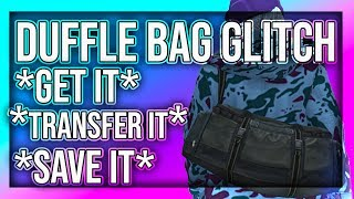 GTA V ONLINE 1.43 HOW TO GET, SAVE AND TRANSFER THE DUFFEL BAG*MODDED OUTFIT TUTORIAL*XBOX1PS4