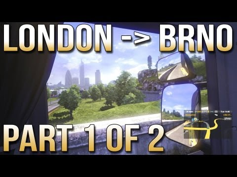 London to Brno Part 1 of 2 - Euro Truck Simulator 2 with Track IR