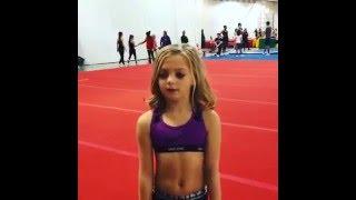 Little Girl Flips out on Mat