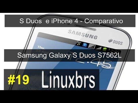 Samsung Galaxy S Duos GT - S7562 e Iphone 4 Apple - Comparativo - Parte 1 - PT-BR
