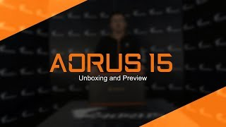 AORUS 15 Gaming Laptop | Unboxing & First Look