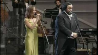 Pavarotti and Sheryl Crow
